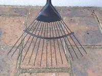 Yeoman Carbon Steel Lawn Rake *Sturdy, Extra-long handle*
