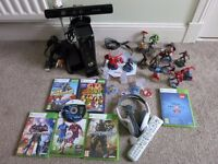 Xbox 360 (250GB), 2 controllers, 12 games, Kinect, Disney Infinity 2.0, 15 figures, headset and more