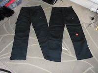 2 pairs of Dickies workwear, black work cargo pants. one BNWT