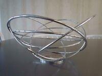 Atomic spun chrome tube wire fruitbowl designed by Aero – Great table centrepiece