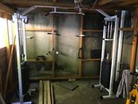 Cable crossover workstation gym 150kg
