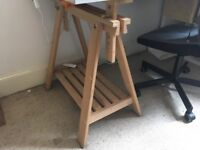 Desk legs - Trestles with shelf.