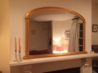 John Lewis Gold Framed Over Mantle Mirror - excellent condition - relocation is reason for sale