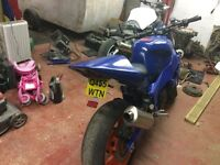 yamaha fzr 1000 saught after bike , low insurance, great canvas for street fighter sounds awesome.