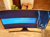 "Samsung Curved Smart TV 48"" UE48JS8500T S-UHD 4K Broken screen Other Parts Perfect"