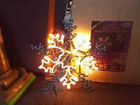 Christmas 60cm flashing Snow flake (Large) indoor/out door use.