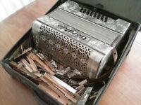 Piano accordion, 24-bass, complete but needs total overhaul
