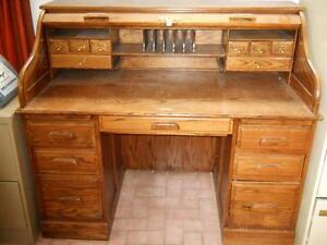 Winners only inc solid oak roll top desk desks