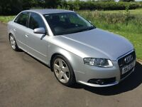 Nov 2006 Audi A4 2.0 S LINE FSH 1yrs MOT 1 OWNER 6MTH WARRANTY