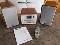 Pure LEGATO 2 compact hifi DAB radio, CD & MP3 Player in Cherry Wood