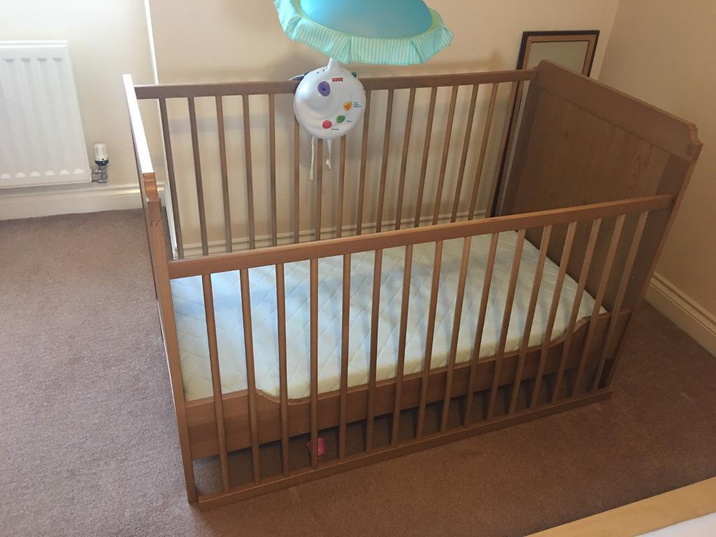 ikea cot and cot bed in radcliffe manchester gumtree. Black Bedroom Furniture Sets. Home Design Ideas
