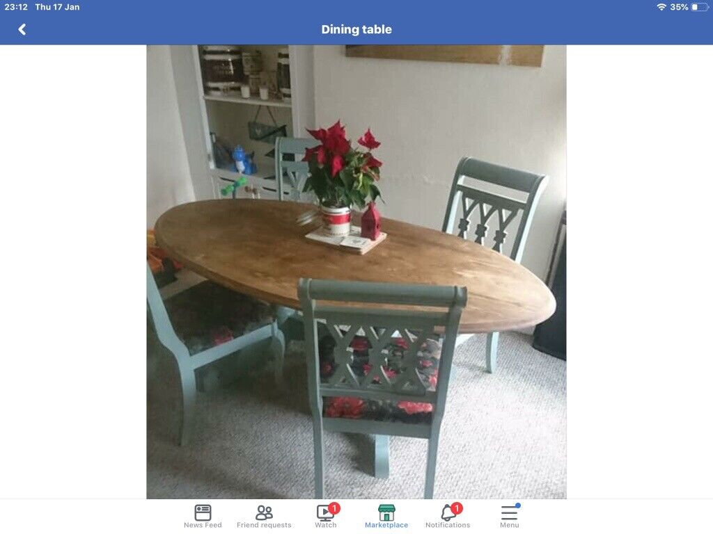 Kitchen ding table oval shaped seats up to 6 comfortably delivery possible