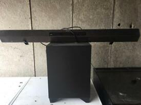 Sony sound bar and sub no wires apart from power plug