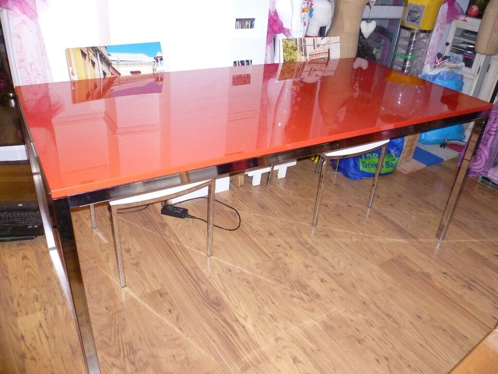 Ikea torsby large red glass dining purchase sale and exchange ads - Glass dining table ikea ...