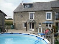 Farmhouse in Brittany France to rent up up to 8 people (or 2 familys) from £350 with pool x