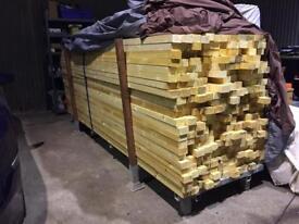 "3""x2"" Kiln dried c24 treated wood 3 meters long qty 210"