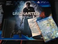 Brand new sealed unopened ps4 slim 500GB with fifa 17 and unchartered 4 with argos receipt