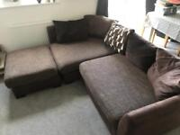 DFS 4 seater right corner sofa & Swivel cuddle chair (Perfect Condition)