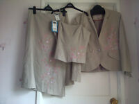 Next 3 piece Suit, brand new – Skirt, Jacket & top – size 10 (Ideal for special occasion)