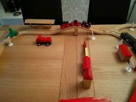Brio wooden train set original 1980