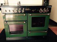 Rangemaster Leisure 110 Gas Hob and Double Gas Oven - Green