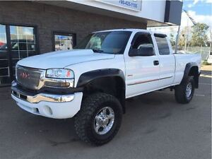 2004 GMC SIERRA 2500HD SLT LIFTED LOADED DIESEL!