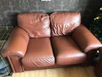 Leather sofa 3 and 2 seat