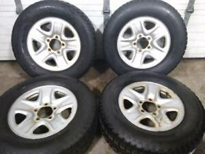 """18"""" TOYOTA TUNDRA WINTER PACKAGE 5X150 STEEL RIMS WITH 275/65R18 TEMPA WINTER TIRES USED FOR SALE"""