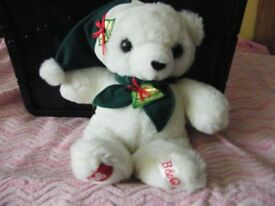 Teddy Bear. Special white bear.Christmas 1996