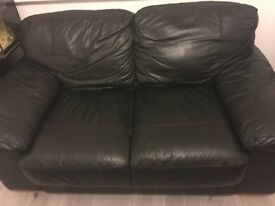 3 seater and 2 Seater real leather sofa