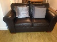 Marks and Spencer brown leather sofas