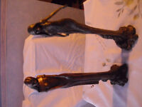 Bronze Coloured lady statues