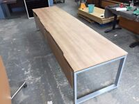 2 X PERSON OFFICE BENCH DESK SET, CALL CENTRE, CLUSTER, STATION etc