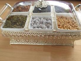 Dried fruit and food serving trays