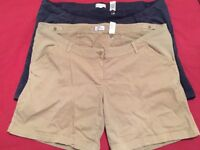 2 pairs of next maternity shorts size 22