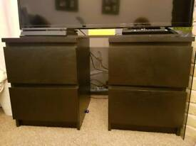 Ikea malm night stand dresser drawers