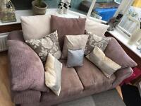 Cream and beige sofa scs