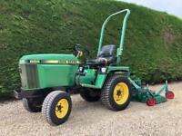 John Deere tractor with topper / finishing mower good working order