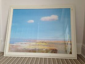 Framed coastal scene print