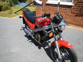 Honda Classic NTV 650 Monza Red one owner F/S 17448 miles alot of bike for te money suit