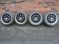alloy wheels deep dish staggered alloys
