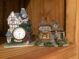 Two little house ornaments