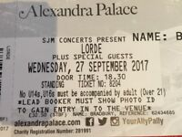 Lorde Concert Standing Ticket x2 @London, Alexandra Place.