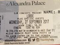 Lorde Concert Standing Ticket x2 @London, Alexandra Place.