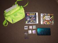 Nintendo 3ds, 7 games and bag