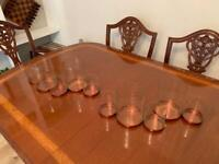 Copper and glass candle holders