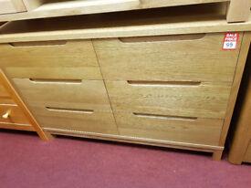 Weymonth 3+3 large chest - Oak