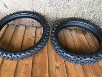 Motor bike tyres