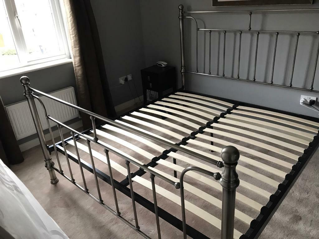 Super King Metal Bed Frame In Rogerstone Newport Gumtree