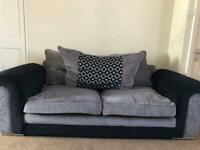 1x 2 seater / 1x 3 seater ! Black and Grey